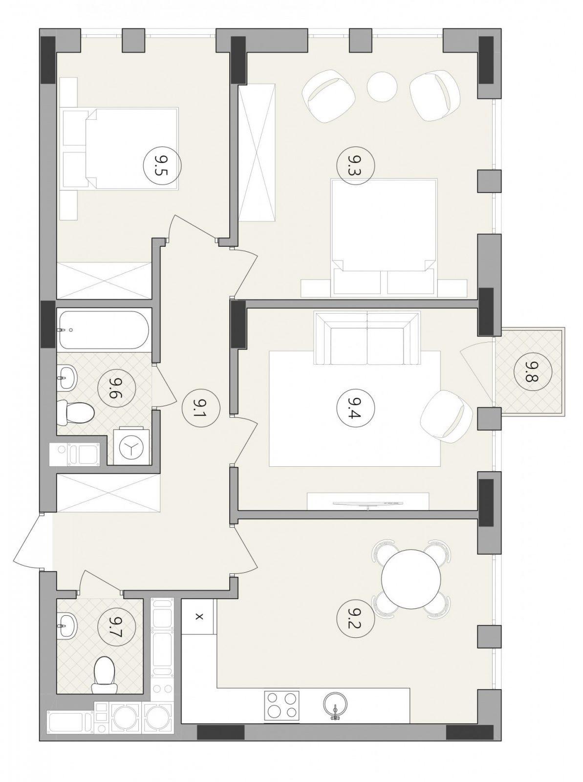 Квартира № 44